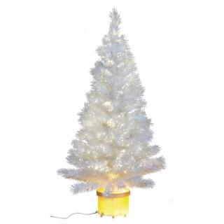 Sapin de Noël artificiel blanc 120 cm 171317