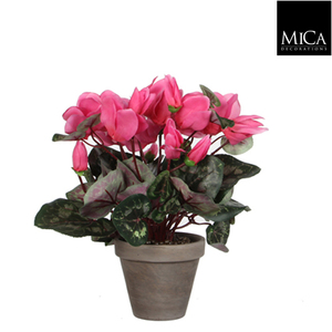 Cyclamen rose clair plante artificielle en pot H 30 x Ø 30 cm 174634