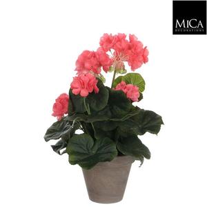 Géranium saumon plante artificielle en pot H 34 x Ø 20 cm 174669