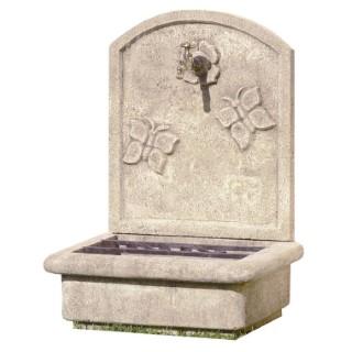 Fontaine de jardin murale - Contemporaine - Zinc : Décoration et ...