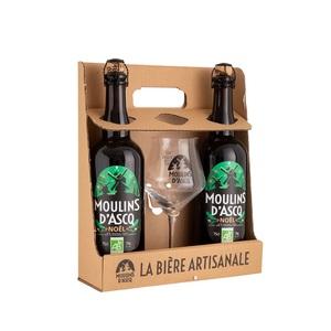 Coffret de 2 bières de Noël avec un verre 184472