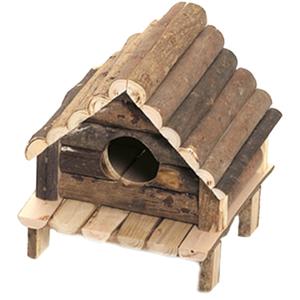 Maison wooden cabin pour petit rongeur 14x12xH13 cm 193171