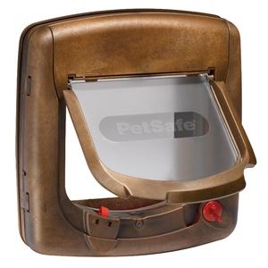 Chatière Petsafe magnétique luxe brune 195437