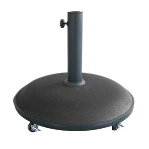 Pied de parasol en béton sur roulettes noir 196588