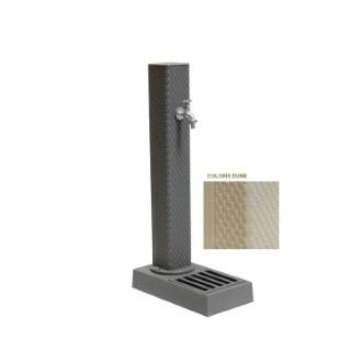 Borne-fontaine Pixel couleur dune avec robinet ¼ de tour – 103 cm de haut 197932