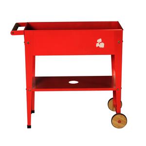 Potager urbain à roulettes rouge L 75 x l 35 x H 80 cm 198057