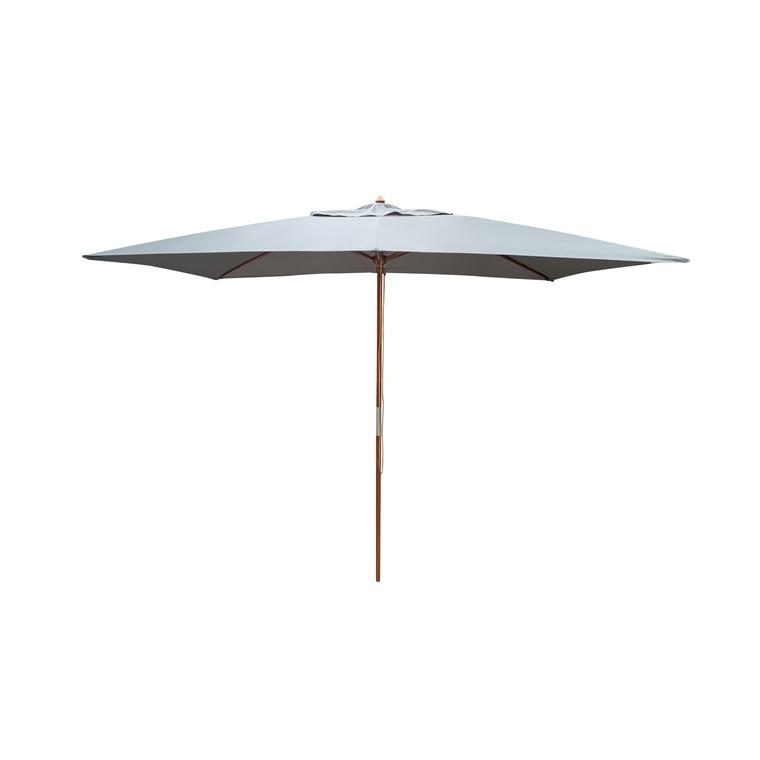 Parasol rectangulaire  bois écru 10014