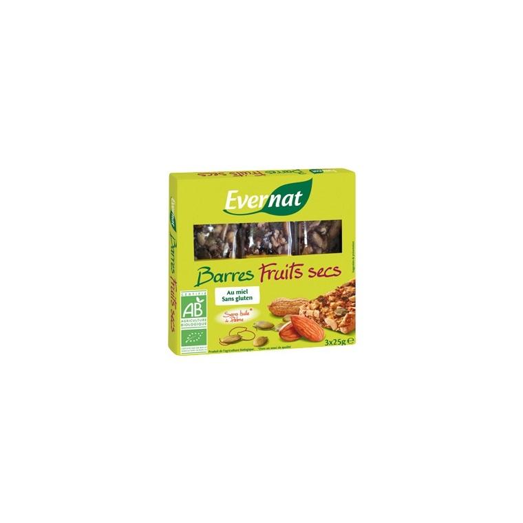 Barres fruits secs 75 g EVERNAT 100335