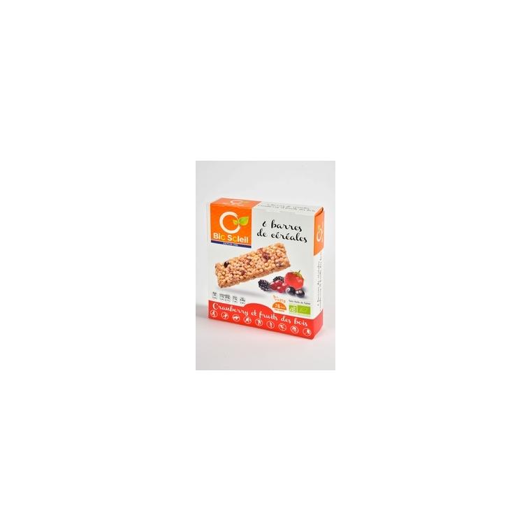 Barres céréales cranberries 125g 100643