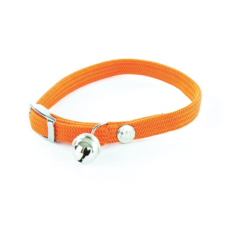 Collier élastique pour chat orange 10123