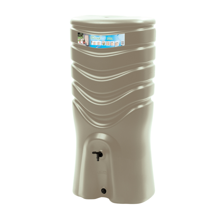 Récupérateur d'eau mural de 350L couleur taupe 101978
