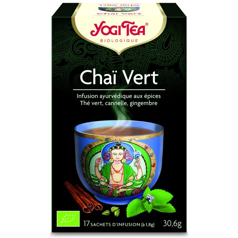 Yogi Tea Chai vert – La boîte de 17 sachets 103074