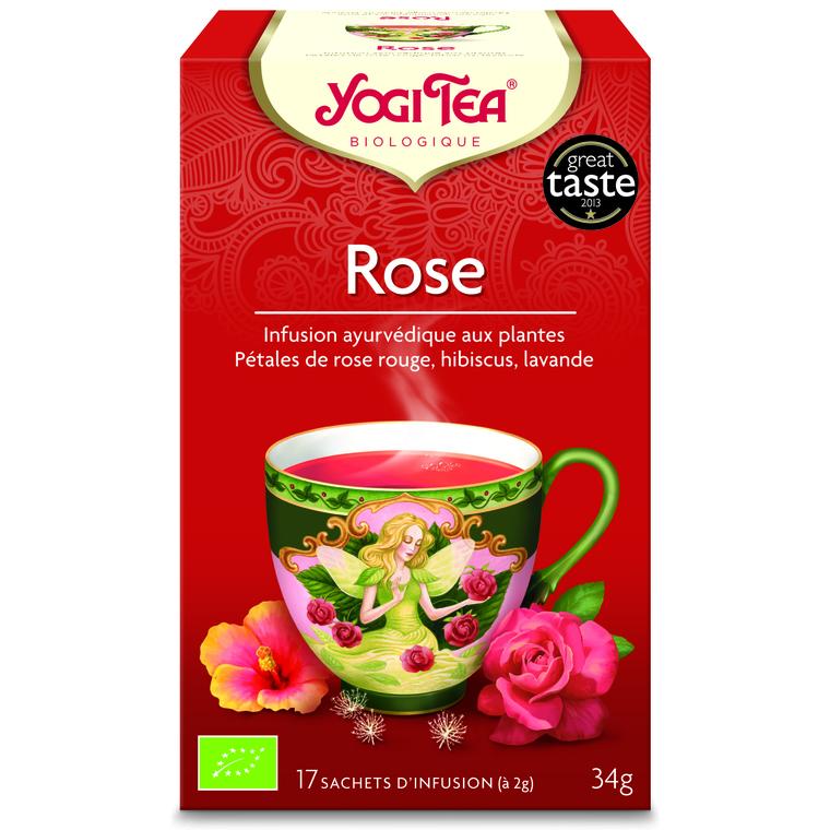 Yogi Tea Rose – La boîte de 17 sachets 103075