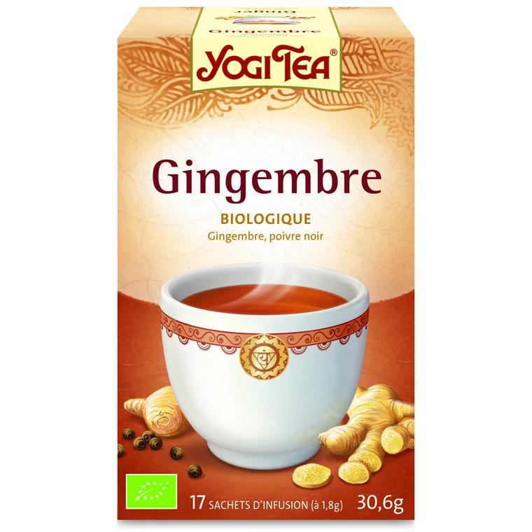 Yogi Tea Gingembre – La boîte de 17 sachets 103098