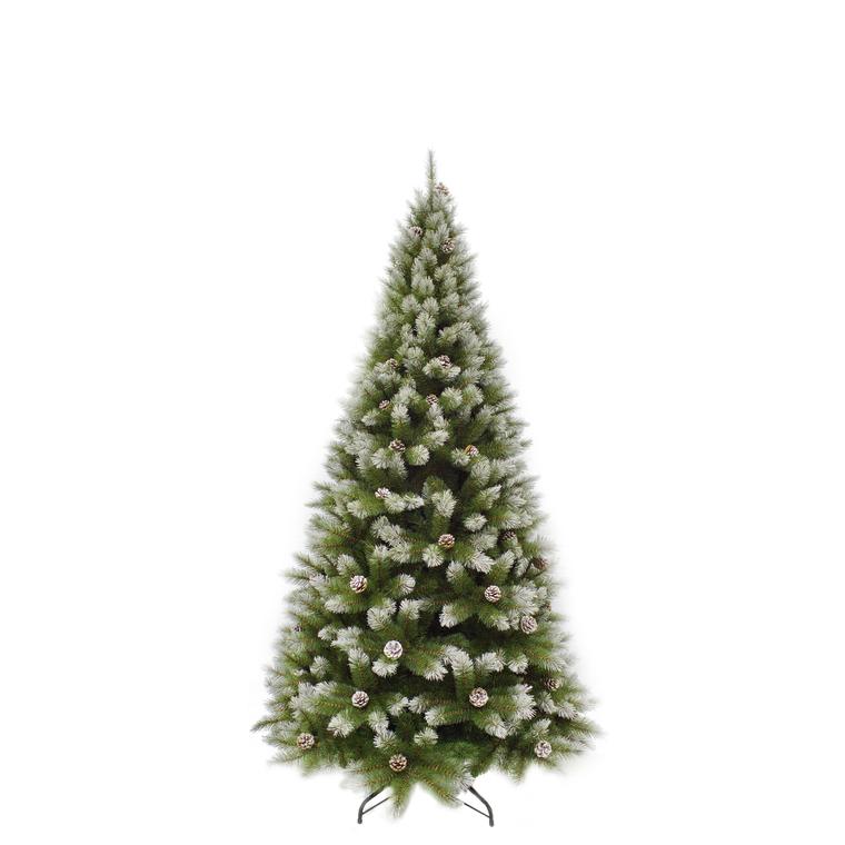 Arbre de Noël Pittsburgh avec pommes de pin H 185 cm 348860