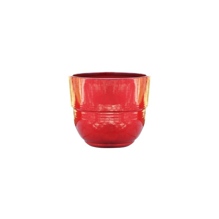 Vase Rebord coquelicot H 33 x Ø 35 cm