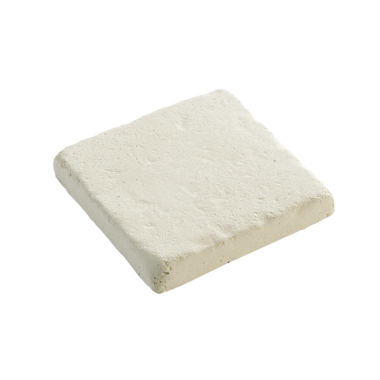 Pavé Touraine en pierre reconstituée Blanc 12x12x2 cm 104248