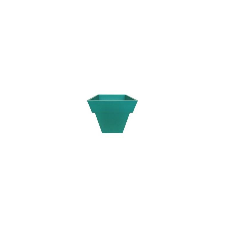 Pot carré 40x40x40 Bleu canard 105170