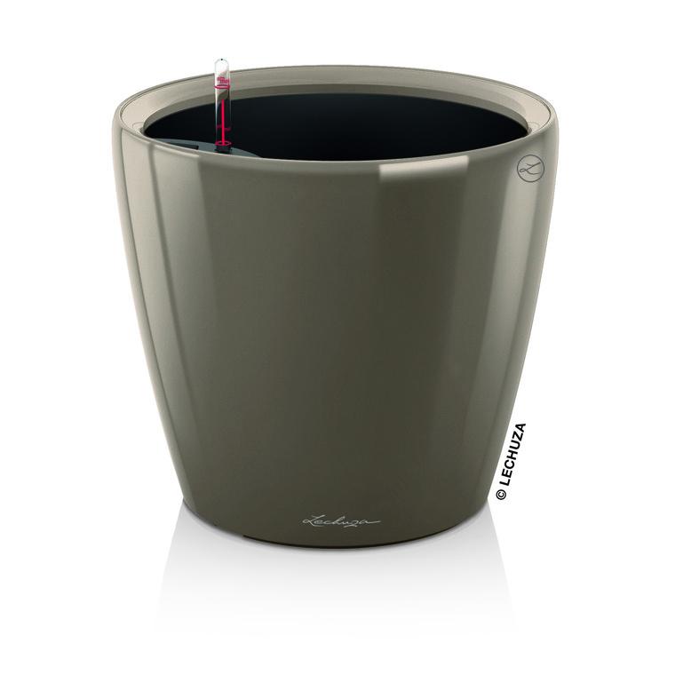 Pot à réserve d'eau Classico Taupe Ø.28 x H.26 cm 105507