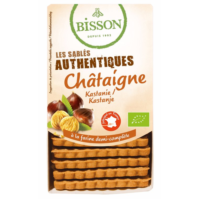 Biscuits sablés authentiques à la châtaigne - 180 gr 105867