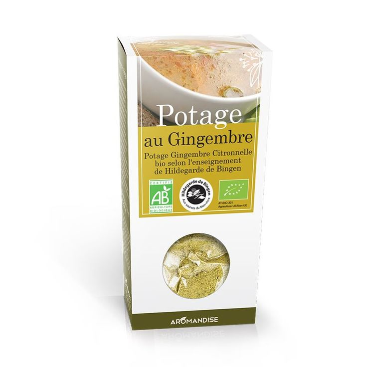 Potage au gingembre bio en boite de 170 g 107965