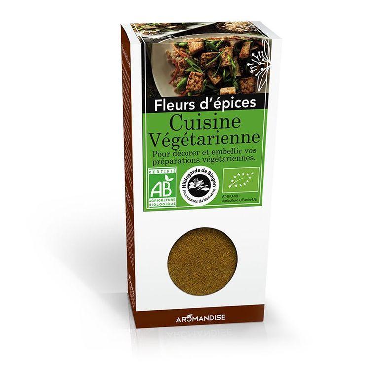 Fleurs d'épices pour cuisine végétarienne bio en boite marron de 38 g