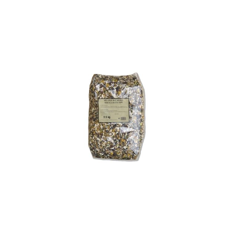 Mélange de graines multicolore pour rat et souris 3,5 kg 108760