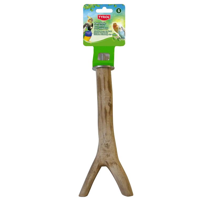 Perchoir branche en bois taille S 20 cm 109191