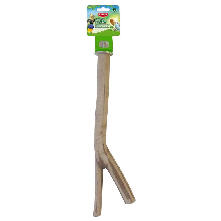 Perchoir branche en bois taille L 30 cm 109192