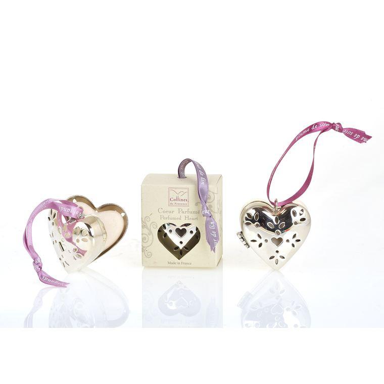 Cœur métal PM Fleur de lin 109213