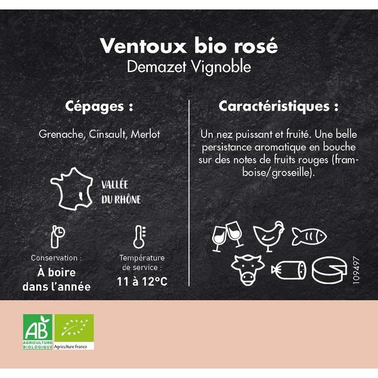 Vin Ventoux bio rosé 3 L 109497