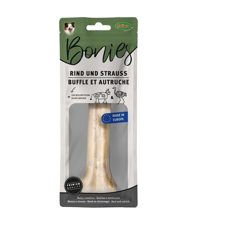 Os à mâcher à la viande d'autruche Bubimex 17 cm