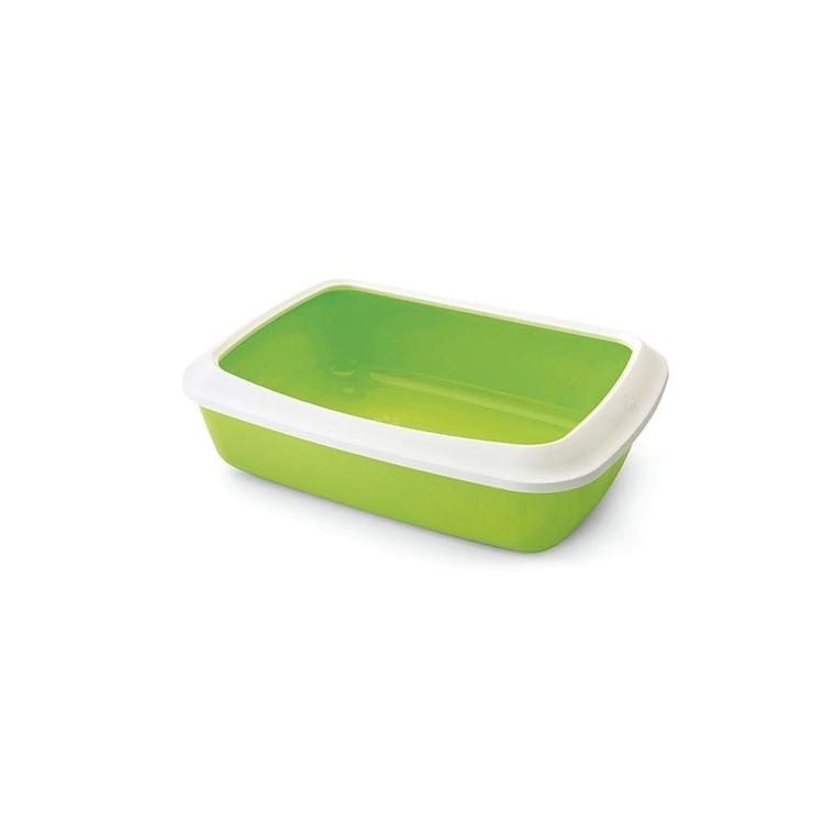Bac à litière Iriz avec rebords coloris vert - 42x31x12,5 cm 109807