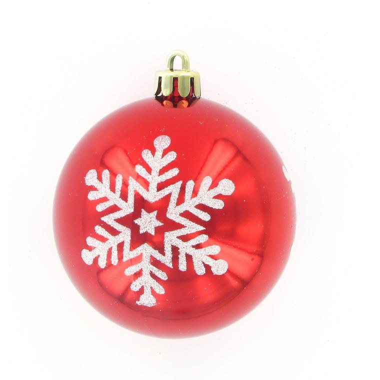 Boules de Noël motif flocon x 6 109910