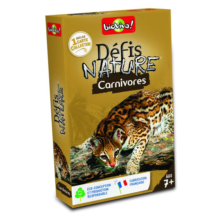 Boite de jeu Défis Nature sur le thème des carnivores 110848