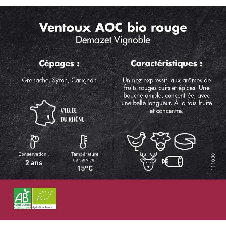 Ventoux bio rouge prix Eco Vin Attitude 75 cl 111038