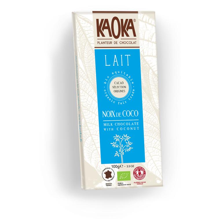 Chocolat lait 32% noix de coco 100 g 112983