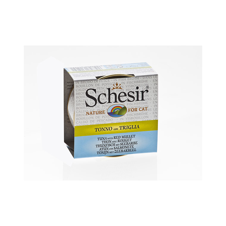 Boîte pour chat Schesir Thon Rouget + bouillon 70 g 114670