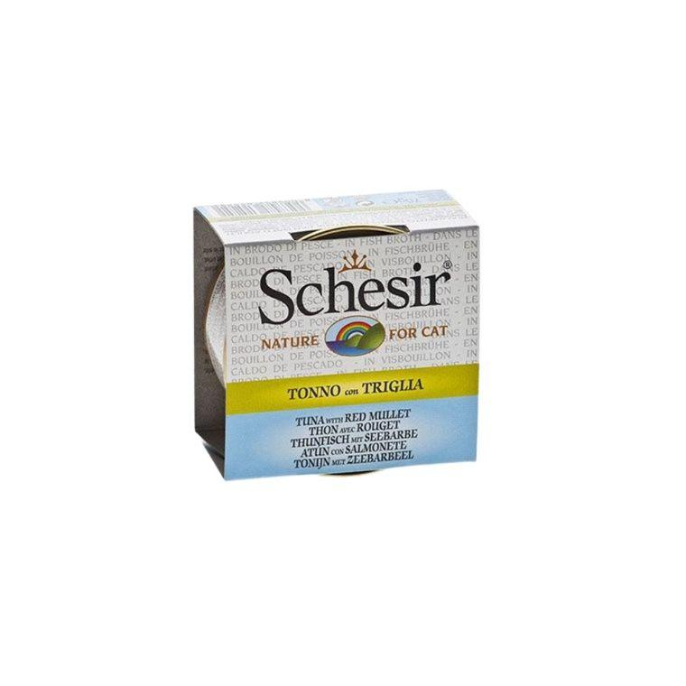 Boîte pour chat Schesir Thon Rouget + bouillon 70 g 114670