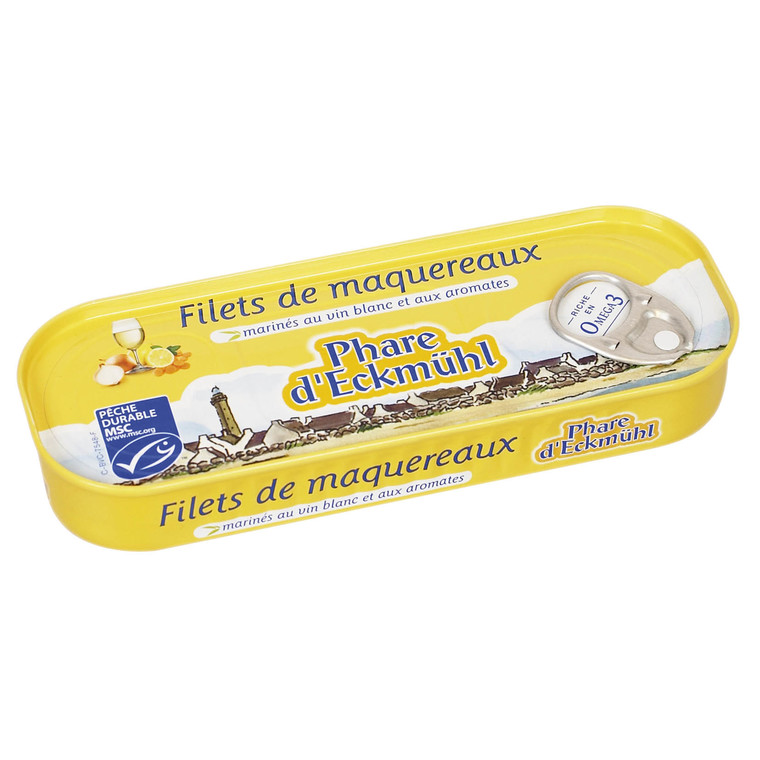 Filets de maquereaux au vin blanc 118 g 114754