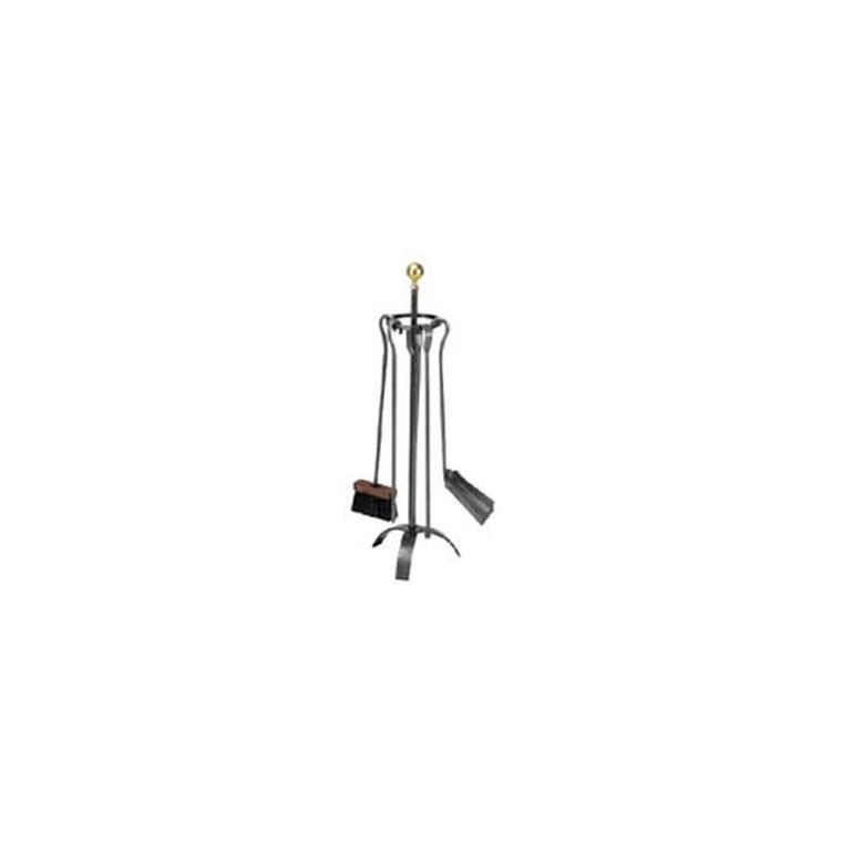 Serviteur de cheminée Montmartre boule laiton 115458