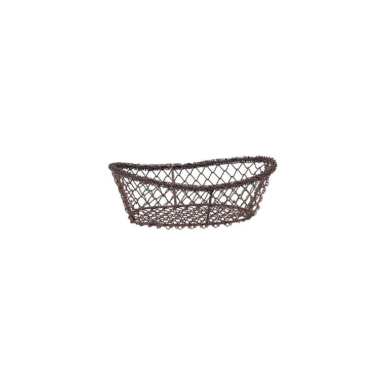 Corbeille grillage ovale 23x15x6 cm 116076