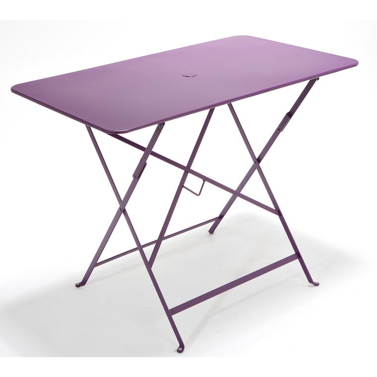 table de jardin pliante bistro fermob aubergine. Black Bedroom Furniture Sets. Home Design Ideas
