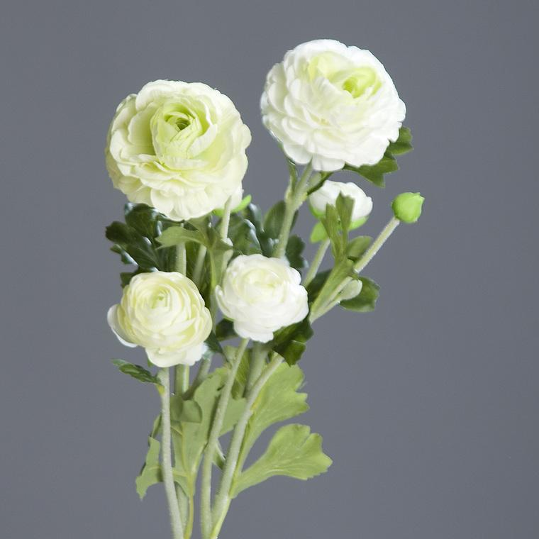 Renoncule 3 fleurs artificielles H62 cm 118126