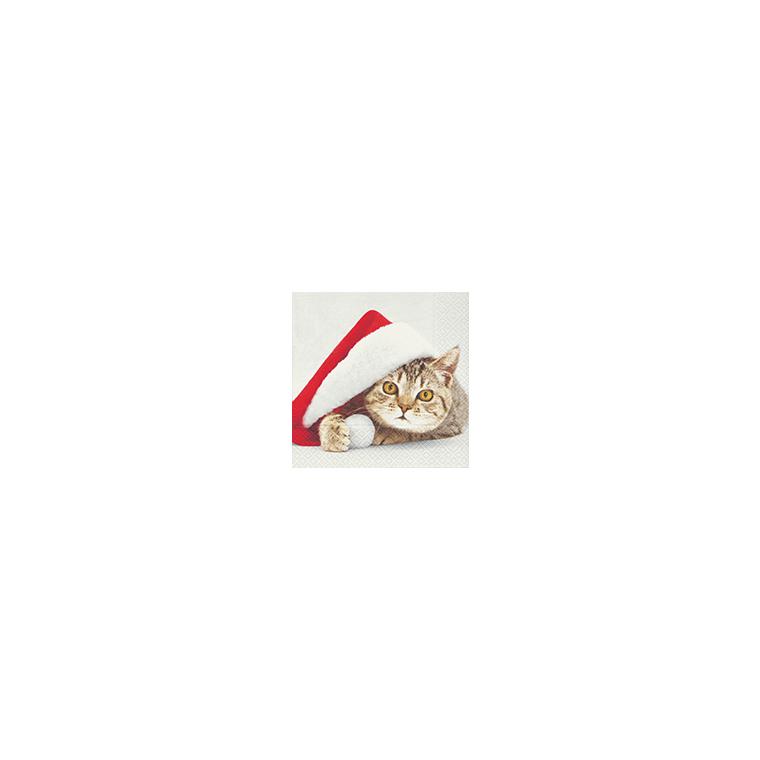 Serviettes x20 3 plis 33x33 cm Santa cat 118662