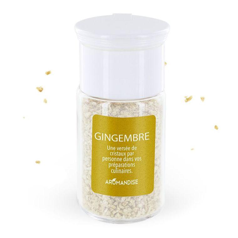Cristaux d'huiles essentielles au gingembre bio en boite de 10 g 118759