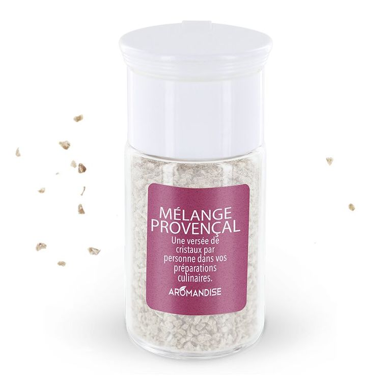 Cristaux d'huiles essentielles mélange provençal bio en boite de 10 g 118761