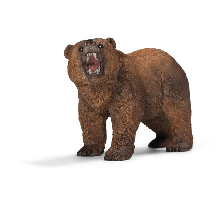 Figurine Ours Grizzly Série Animaux sauvages 5x4,5x10 cm 120516