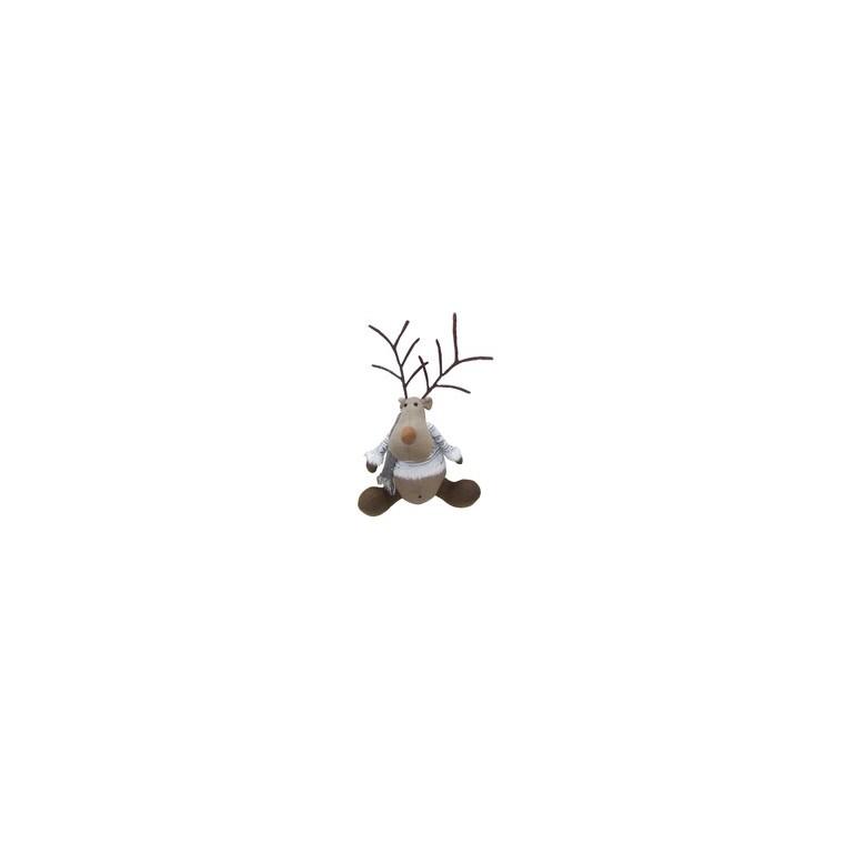 Peluche renne assis 30 cm 120730