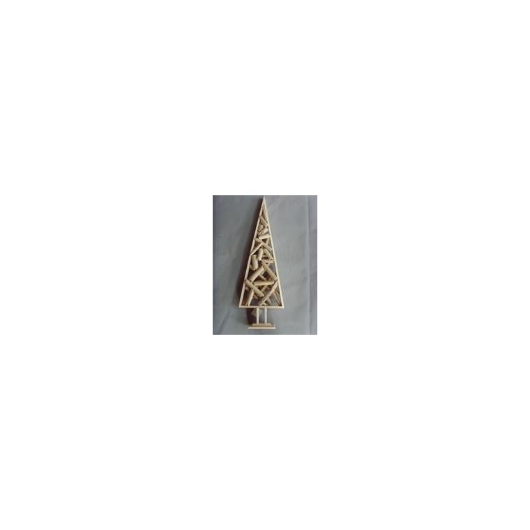 Sapin décoratif en bois H 68 cm 121041